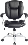 Techni Mobili Plush Task Chair - Black [RTA-0930-BK-FS-RTAP]