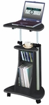Techni Mobili Rolling Laptop Cart with Storage - Graphite [RTA-B002-GPH06-FS-RTAP]
