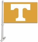 Tennessee Volunteers Car Flag with Wall Brackett - Logo Design [97201-FS-BSI]