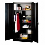 Tennsco Combination Wardrobe/Storage Cabinet [TNN7214BK-FS-SP]