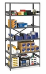 Tennsco Commercial Shelf - 6 Shelves - 24''D [TNNESP62436MGY-FS-SP]