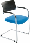 Teo Sled Base Stacking Chair with Poly Back [TO9360-FS-DV]