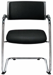 Teo Sled Base Stacking Chair with Upholstered Back Pad [TO9370-FS-DV]