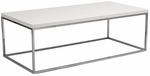 Teresa Rectangular Coffee Table in White [09801WHT-FS-ERS]