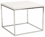 Teresa Side Table in White [09802WHT-FS-ERS]