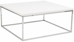 Teresa Square Coffee Table in White [09800WHT-FS-ERS]
