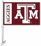 Texas A&M Aggies Car Flag with Wall Brackett [97130-FS-BSI]