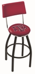 Texas A&M University 25'' Black Wrinkle Finish Swivel Counter Height Stool with Cushioned Back [L8B425TEXA-M-FS-HOB]