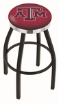 Texas A&M University 25'' Black Wrinkle Finish Swivel Backless Counter Height Stool with Chrome Accent Ring [L8B2C25TEXA-M-FS-HOB]
