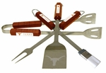 Texas Longhorns 4 Pc Bbq Set [61034-FS-BSI]