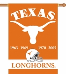 Texas Longhorns Champ Years 2-Sided 28'' X 40'' Banner with Pole Sleeve [96234-FS-BSI]