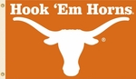 Texas Longhorns 'Hook 'Em Horns' 3' X 5' Flag with Grommets [95234-FS-BSI]