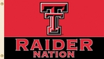 Texas Tech Red 'Raider Nation' 3' X 5' Flag with Grommets [95527-FS-BSI]