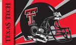 Texas Tech Red Raiders 3' X 5' Flag with Grommets - Helmet Design [95327-FS-BSI]
