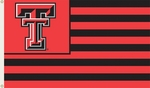 Texas Tech Red Raiders 3' X 5' Flag with Grommets - Striped USA Style [95127-FS-BSI]
