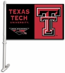 Texas Tech Red Raiders Car Flag with Wall Brackett [97027-FS-BSI]