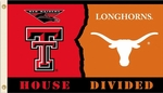 Texas Tech - Texas 3' X 5' Flag with Grommets - Rivalry House Divided [95827-FS-BSI]