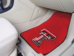 Texas Tech University Carpet Car Mat 2 Pc 18'' x 27'' [5329-FS-FAN]