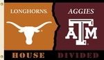 Texas - Texas A & M 3' X 5' Flag with Grommets - Rivalry House Divided [95340-FS-BSI]