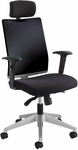 Tez™ Adjustable Height High Back Manager Chair with Headrest - Black [7030BL-FS-SAF]