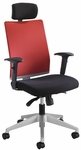 Tez™ 25.50'' W x 25.50'' D x 44'' H Adjustable Height High Back Manager Chair with Headrest - Tabasco [7030TA-FS-SAF]