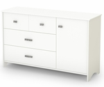 Tiara Collection Dresser in White [3650028-FS-SS]