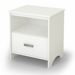 Tiara Collection Night Stand in White [3650062-FS-SS]