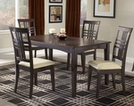 Tiburon 5 Piece Dining Set with Rectangular Wood Table and 4 Chairs - Espresso [4917DTBC-FS-HILL]