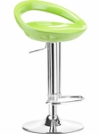 Tickle Swivel Barstool in Green Finish [300025-FS-ZUO]