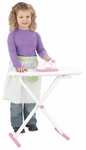 Kids Wooden Make-Believe Tiffany Bow Ironing Board Play Set -White [62111-FS-KK]