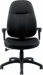 High Back Fabric Tilter Chairs with Arms - Black [OTG11652-QL10-FS-GLO]