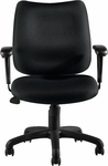 Tilter Fabric Management Chair with Arms - Black [OTG11612B-QL10-FS-GLO]