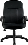 Tilter Fabric Management Chair with Fixed Molded Arms - Black [OTG11615B-QL10-FS-GLO]