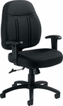 Low Back Fabric Tilter Chair with Arms - Black [OTG11651-QL10-FS-GLO]