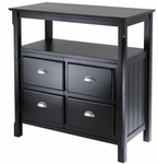 Timber Buffet Table with Two Doors [20236-FS-WWT]