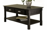 Timber Coffee Table with Drawers and Shelf [20238-FS-WWT]