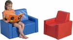 Tiny Tot Seating Group with Soft Polyurethane Foam Filled Vinyl Covered Two Piece Chair and Love Seat Seating [CF321-950-FS-CHF]