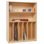 Tip-Me-Not Multi-Purpose Healthy Kids Plywood Bookcase - Assembled - 36''W x 15''D x 49''H [12990-WDD]