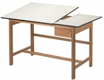 Titan II Solid Oak Drafting Table Split-Top [WSB60-FS-ALV]