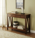 Titian Console Table - Antique Tobacco [86152ATOB-01-KD-U-FS-LIN]