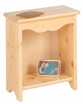 American Made Solid Wood Toddler Bedside Stand - Natural [086-NA-FS-LC]