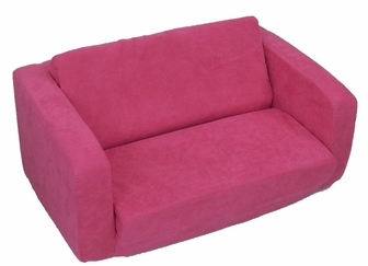 toddler flip sofa hot pink micro suede 55204fsfnf - Flip Chair Bed