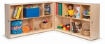 Multi-Purpose Birch Laminate Toddler Fold & Roll Storage Cabinets [WB0552-FS-WBR]