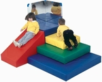 Multicolor Toddler Pyramid Climbing and Play Center - 69''L x 58''W x 24''H [CF300-007-FS-CHF]