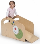 Toddler Step and Ramp with Colorful Ladybug Decal [WB2114-FS-WBR]
