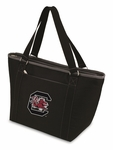 Topanga Cooler Tote - Black- University of South Carolina Digital Print [619-00-175-524-0-FS-PNT]