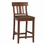 Torino Collection 24''H Slat Back Counter Stool [01848DKCHY-01-KD-U-FS-LIN]