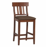 Torino Collection 30''H Slat Back Bar Stool [01849DKCHY-01-KD-U-FS-LIN]