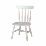 Children's Armless Spindle Back 23''H Chair - Set Of 2 - Unfinished [1124P-FS-WHT]