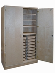 Tote Tray Storage Cabinets - 24 Trays and 3 Adjustable Shelves [TT-4-HNN]
